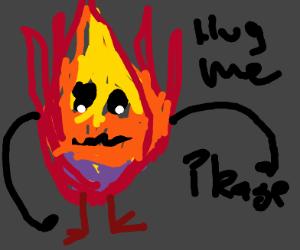 fire monster wants a hug