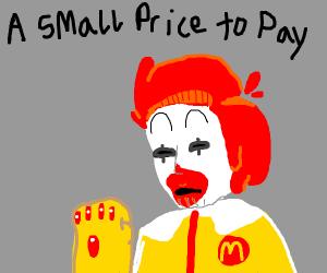 Ronald McDonald with McFinity Gauntlet