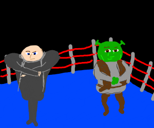 Gru vs. Shrek boxing match