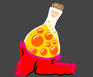 yellow potion wears red pants