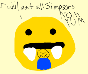 simpson eating ball