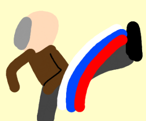 Putin Russian kicking