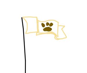 animal footprint flag