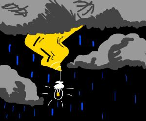 Lightbulb in a Thunderstorm