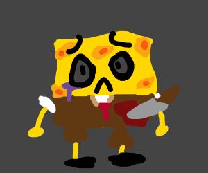 Spongebob has been stabbed