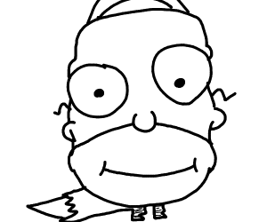 Draw yourself as a Simpson's character