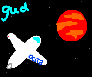 Plane flies to mars and is gud