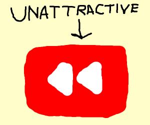 rewind button is unattractive