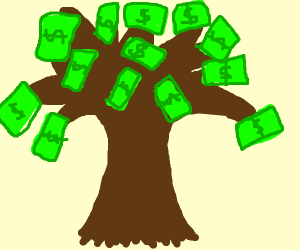 turns out money DOES grow on trees