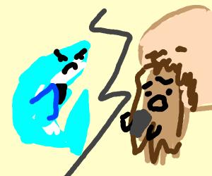 Dolphin texting Beard