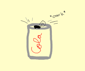 a open can