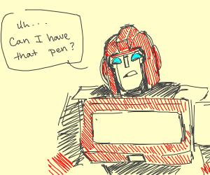Robot wants pen