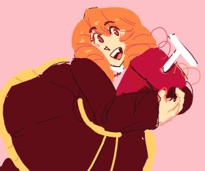Anime girl with a detonator
