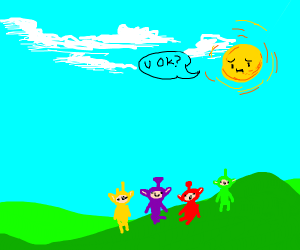 The sun is concerned about Teletubbies