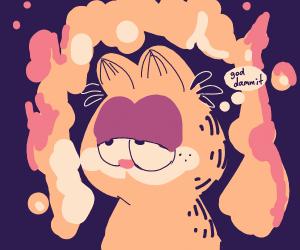 Garfield is on fire