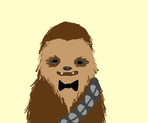 Chewbacca with a bowtie.