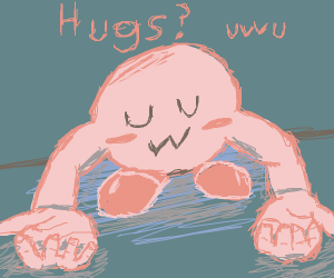 horrifying kirby with human legs gives u uwus