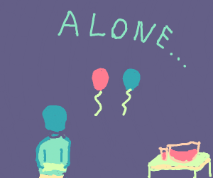 alone at a party