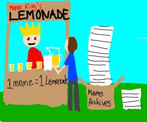 Meme King's Lemonade Stand