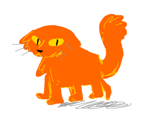 6 legged orange cat no ears