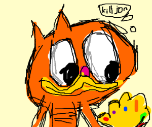 Garfield Has The Infinity Gauntlet Drawception