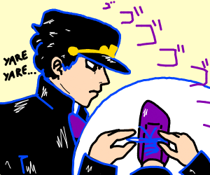 Jotaro ties his shoes