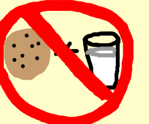 Cookies and milk don't go together