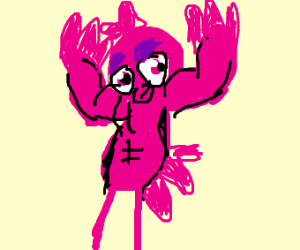 REALLY BUFF gay pink bird