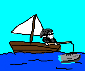 fishing for a tombstone