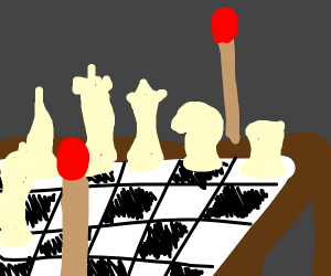 2 matches playing chess