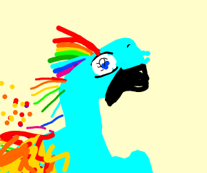 Rainbow dash is on fire