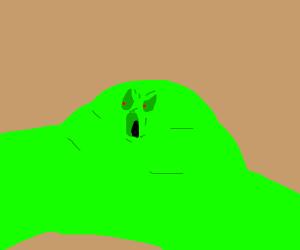 Angry green lump