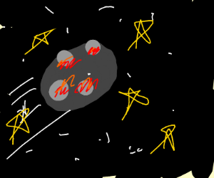 An asteroid with... lava?