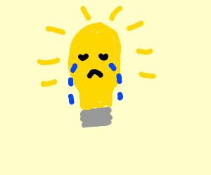 Really sad lightbulb