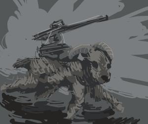 Goat with a gun