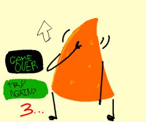 Doritos game over screen