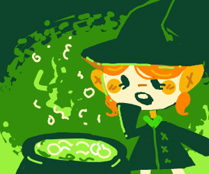 cute ginger witch