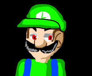 Luigi giving a look of murderous intensity