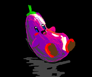 Kirby has become an eggplant