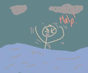 Vibrating Man Drowning