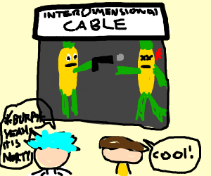 TV in a world where man evolved from corn