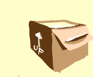 """Box with """"This side up"""" actually UP!"""