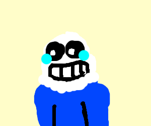 Sans hates his life and is crying