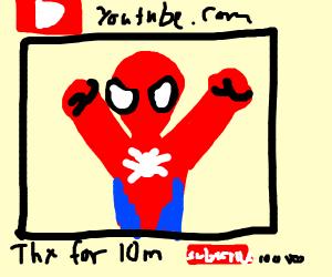 Spiderman's youtube career finally kicks off