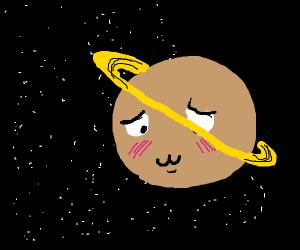 Embarassed planet Saturn