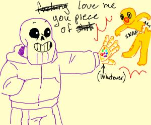 Thanos Sans snaps Yelmo into loving him