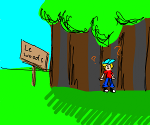 Le child gets le lost in le woods le