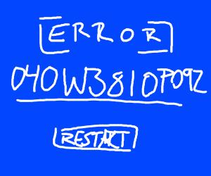 [ERROR] 040W3810P092