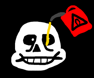 Sans adds gasoline to his eye.
