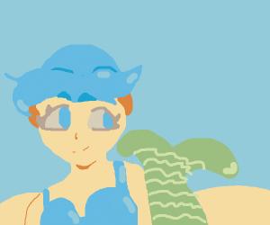 Mermaid in the ocean
